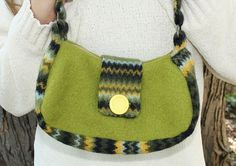 Purse  Made from Recycled Wool Sweaters  Fully by awoolgatherer, $35.00