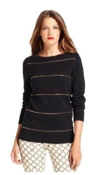 Michael Kors Navy Knit Chain Sweater