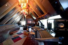 House of Rock - The recording studio has been decorated with drop-glass light pendants and soundproofing panels in cottons and silks, but the studio's technical capabilities are what pushed the estimated cost to $three.five million, Culotti said.