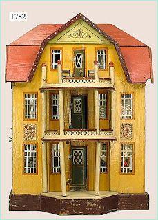 Large red roofed Gottschalk dolls house.
