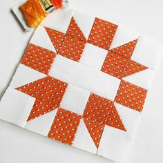 Block 49 - Star and Cross.  This is the April block in the Fat Quarter Shop's 2017 charity quilt-along.
