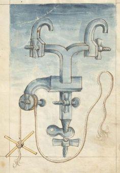 Bellifortis VerfasserKyeser, Conradus  ErschienenElsaß, [um 1460] Ms. germ. qu. 15  Folio 3r