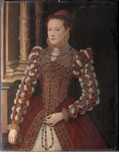 unknown artist, 16th century, British; Formerly Steven van der Meulen, active 1543-1563, Netherlandish, active in Britain (from 1560), naturalized 1562  Portrait of a Woman  dated 1567