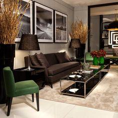 Ambientes sofisticados com estilo contemporâneo e clássico decorados por Christina Hamoui!