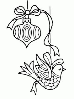 COLORING PAGES WEB SITE Two Christmas ornaments - Free Printable Coloring Pages