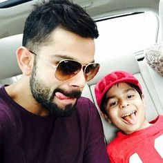 Virat with his nephew Aarav