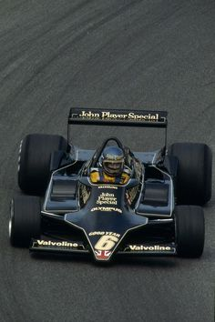 """legendsofracing: """"Ronnie Peterson with the sleek Lotus 79 at Anderstorp during the Swedish Grand Prix in 1978. """""""