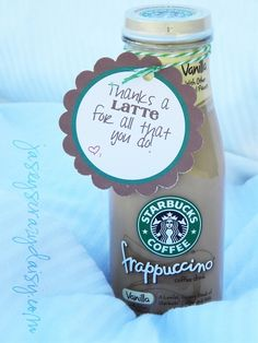 Thanks A Latte {Thank You Gift with Free Printable} {Great for Teacher Appreciation Gifts}