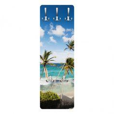 #Wandgarderobe - #Beach of Barbados - #Garderobe Maritim - Garderobenhaken Edelstahl #Sommer #Sonne #Sonnenschein #Meer #Urlaub #Wanddeko #Wohndeko #Dekoideen
