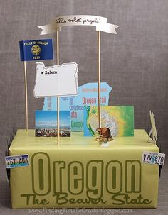 It has come around again:  state floats for a school project.  My son ended up with the state of Oregon a couple of years ago, and my d...