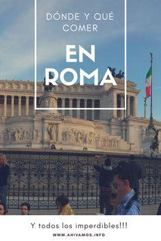 Qué y dónde comer en #Roma #Italia y todos los imperdibles Places To Travel, Places To Visit, Rome, Travel Inspiration, Travel Tips, Wanderlust, Italy, World, Countries