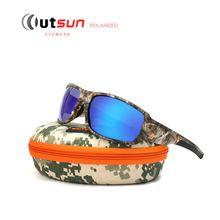 Outsun 2017 new top esporte condução pesca óculos de sol camuflagem quadro polarizado  óculos de sol b60e242469