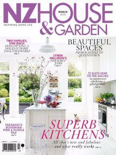 Nz House & Garden March 2016 Issue- Super Kitchens  #NzHouseandGarden #Kitchens #Gardens #ebuildin