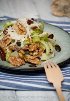 Fenchel-Sellerie-Salat mit Datteln und Walnüssen (und eine Gewinnerin)