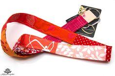 Patchwork Schlüsselband Unikat aus der Lieblingsmanufaktur: rosa, orange, rot, pink