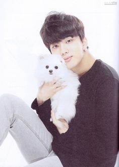 youngjae and dog