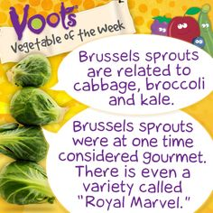 Fun facts about #BrusselsSprouts, the Voots Vegetable of the Week