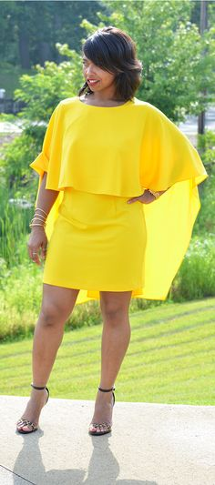 Summer 2015, Summer dress, Yellow dress, Wedding outfit ideas