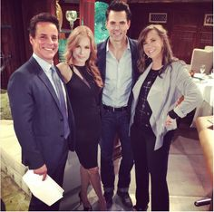 June 3 2016 Christian LeBlanc Tracey Bregman Jess Walton and Jason Thompson YR Michael Lauren Jill & Billy