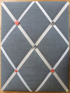 Retro style Notice Board perfect for the kitchen - Handmade in Antique Grey with coloured button embellishments. on Etsy, $24.90
