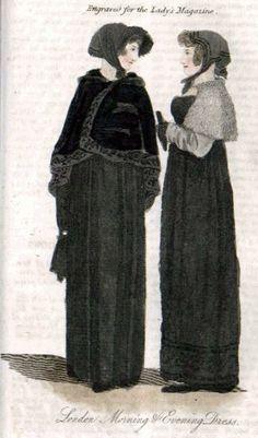 London morning and evening dress, Ladies Magazine, 1810
