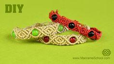 Roses & Beads - Macrame Bracelet Tutorial [DIY]