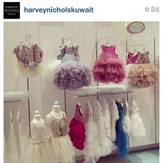 Mischka Aoki dresses at Harvey Nichols Kuwait #mischkaaoki #luxury #kidsfashion #fashion #style #luxurybrandforchildren #tutu #couture