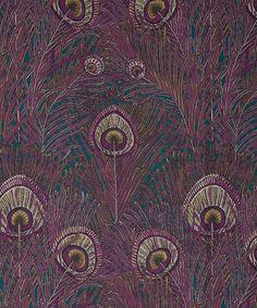 Liberty Art Fabrics Hera Feather Linen Union in Anemone