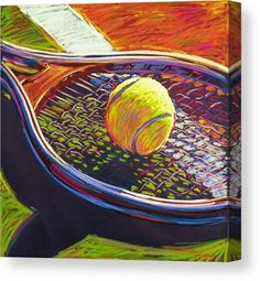 Tennis II Canvas Print by Jim Grady. All canvas prints are professionally printed, assembled, and shipped within 3 - 4 business days and delivered ready-to-hang on your wall. Choose from multiple print sizes, border colors, and canvas materials. Canvas Art, Canvas Prints, Sports Art, Canvas Material, Easy Drawings, Watercolor Paintings, Art Paintings, Fine Art America, Artwork