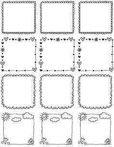 Printable Doodle Borders Labels by InkTreePress | World label Blog | Bloglovin'