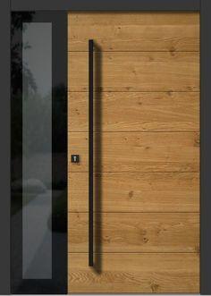 Wooden door front window 59 Ideas