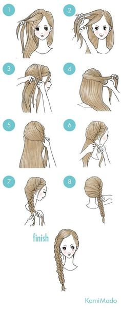 wedding hairstyles easy hairstyles hairstyles for school hairstyles diy hairstyles for round faces p Cute Simple Hairstyles, Quick Hairstyles, Hairstyles For School, Pretty Hairstyles, Braided Hairstyles, Wedding Hairstyles, Kawaii Hairstyles, Hair Arrange, Hair Designs