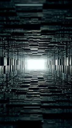 Abstract Dark Shapes Light Geometry Mobile Wallpaper