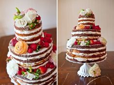 Naked Wedding cake! I want one :)