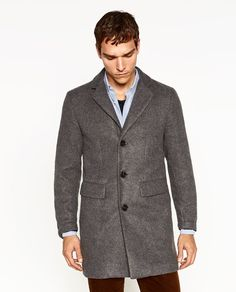 Image 2 of POLISHED COAT from Zara // http://www.zara.com/us/en/man/outerwear/view-all/polished-coat-c764502p3702035.html