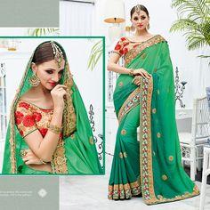 latest indian designer bollywood pakistani asian wedding bridal saree green sari #Shoppingover #SariSaree