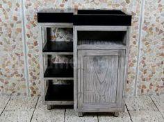 Badezimmermöbel teak ~ Badmöbel kerinci cabinet teakholz tür rechts terrazzo