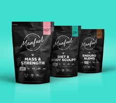 Love the bold colored backgrounds. and the black packaging.