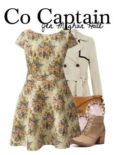 """So Captain"" by trouble-xx ❤ liked on Polyvore featuring Mantaray, Betsey Johnson and Modern Vintage"