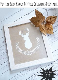 Pottery Barn Christmas Printable Art Knockoff from @savedbyloves