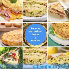 La tortilla es uno de lo platos más habituales en las diferentes cocinas del mundo. Si quieres aprender a elaborarlas de otras maneras, aquí tienes 18 recetas diferentes de tortilla: http://www.guiainfantil.com/recetas/huevos/tortillas-y-revueltos/recetas-de-tortillas-dulces-y-saladas-para-ninos/