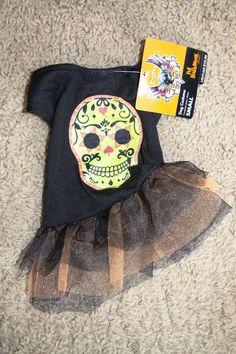 NWT Brett Michaels Skull Dress Halloween Dog Pet Costume Size Small S #BrettMichaels