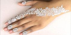 Best white mehndi designs for you - 2plus7