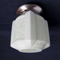 French Art Deco SKYSCRAPER Light Fixture 1930s by Decofanatique, $175.00