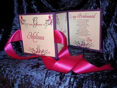 Will You Be My bridesmaid card :)