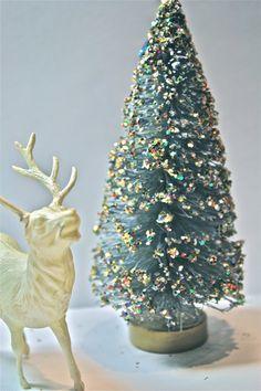 vintage bottle brush tree christmas