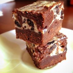 "Chunky Cheesecake Brownies | ""Wow! Melt-in-your-mouth brownies that are easy and elegant. Chocolate brownies marbled with cheesecake make fabulous squares! This is by far my most requested recipe."""