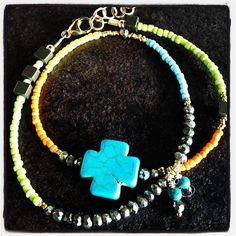 relics Turquoise Color Block Bracelet