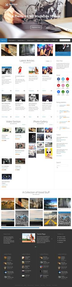 News Grid by Justin Young / Siiimple (via Creattica) Layout Site, Layout Design, Best Web Design, Creative Design, User Interface Design, Web Design Inspiration, Cool Websites, Web Development, Wordpress Theme