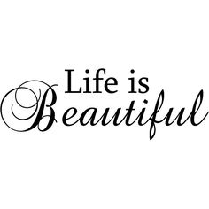 Design on Style 'Life is Beautiful' Black Vinyl Wall Art Quote - Overstock Shopping - The Best Prices on Design on Style Vinyl Wall Art
